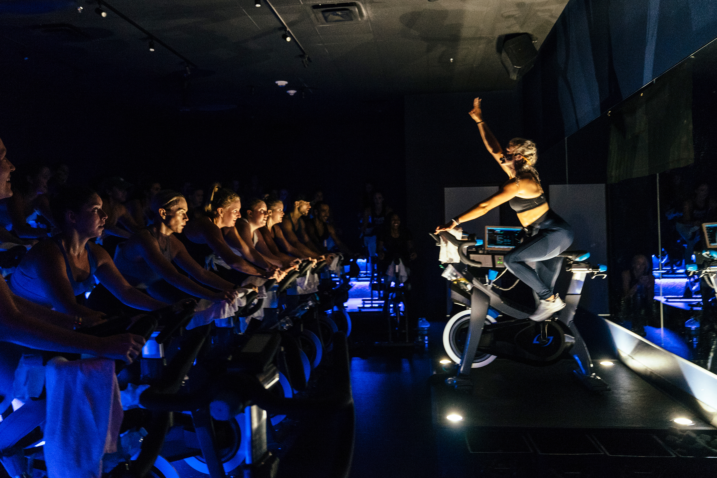 A spin class at Class is like a party on a bike.