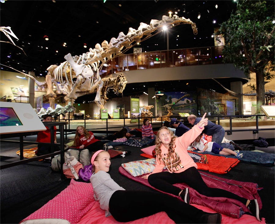 Kids spending the night at the Perot