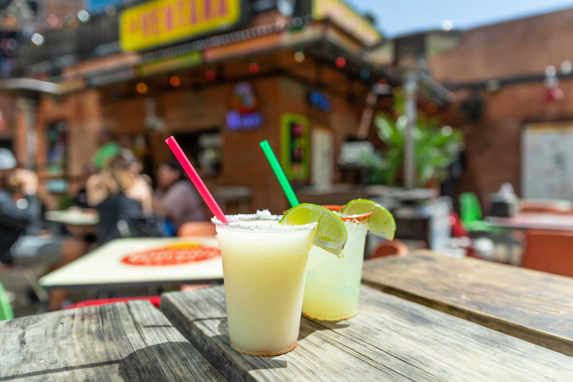 Photo of two margaritas on the La Ventana patio.